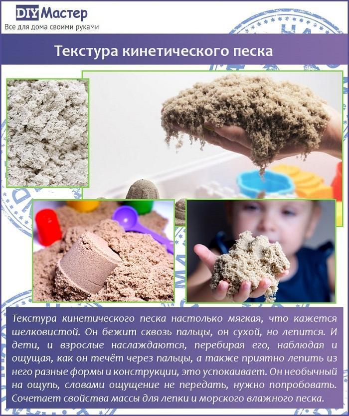 Текстура кинетического песка