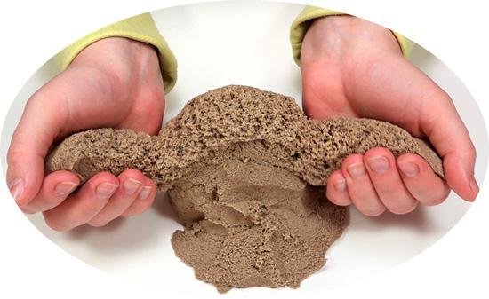 Бальзам для волос также подойдет для создания кинетического песка