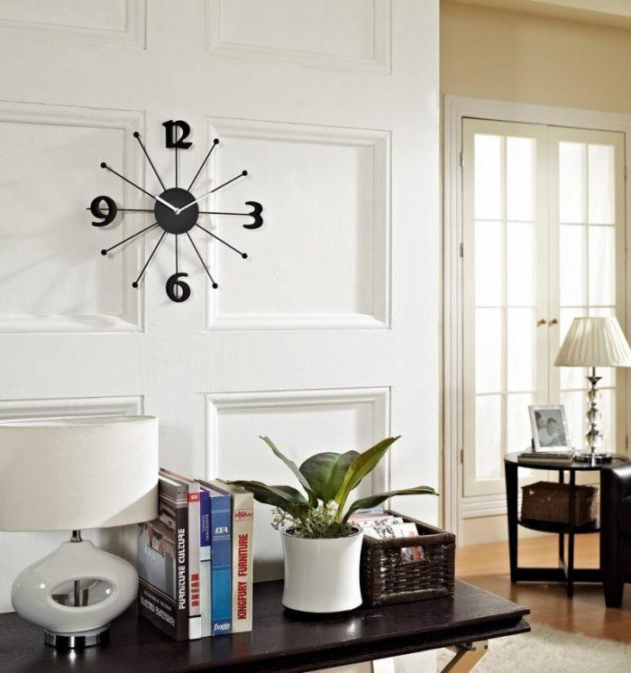 Большие часы на стене
