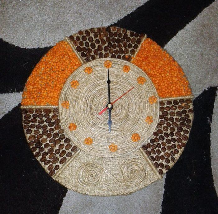 Декоративные настенные часы ручной работы
