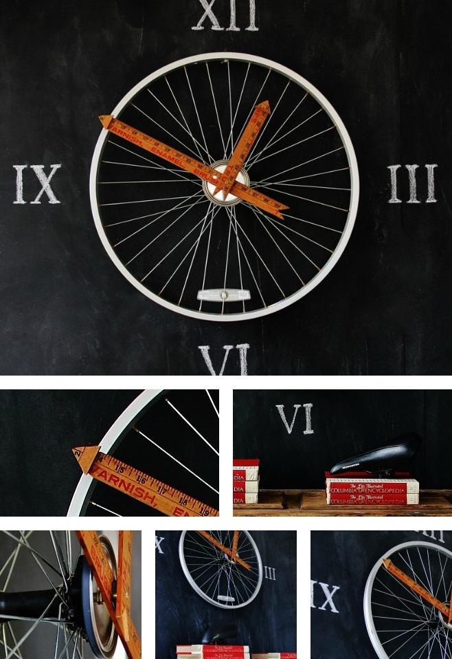 Еще один пример часов из велосипедного колеса