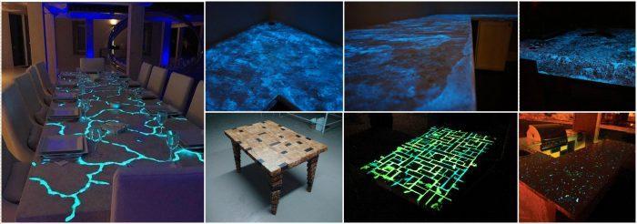 Фантастические светящиеся столы из эпоксидки