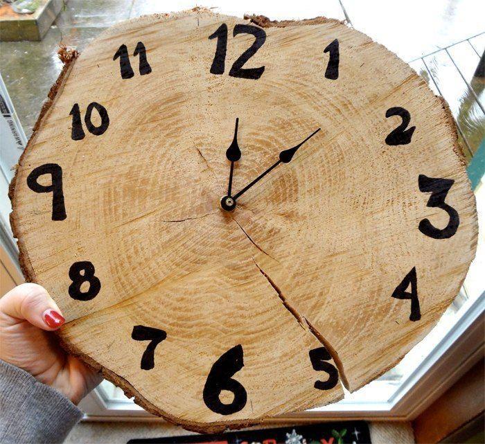 Фото самодельных часов из дерева