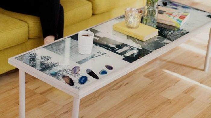 Из старого стола можно сделать такое произведение искусства
