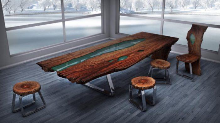 Красивая и неповторимая мебель из эпоксидки станет украшением вашего интерьера