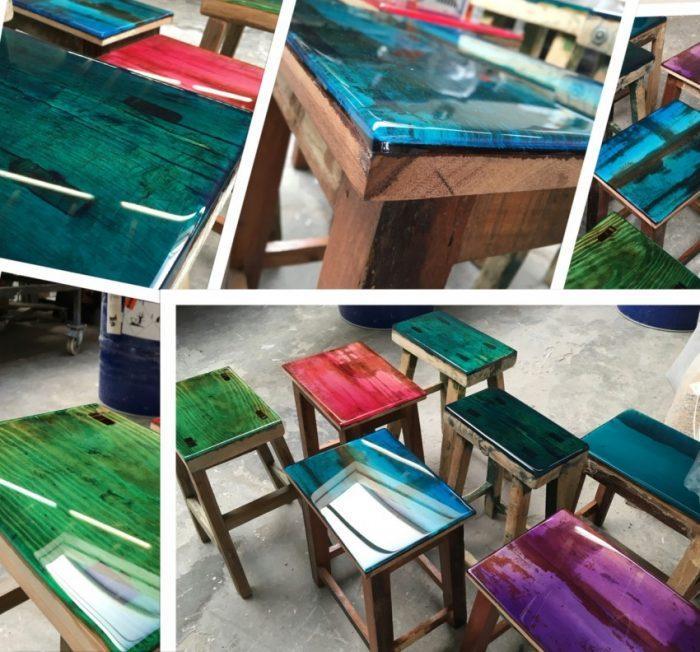 Красивые стулья из эпоксидной смолы