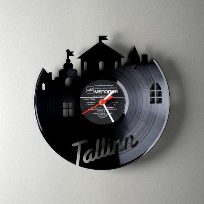 Оригинальные часы из виниловой пластинки