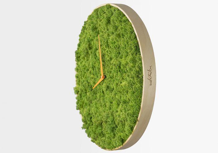 Потрясающие эко-часы из мха