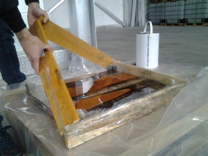 Сборка деревянной формы