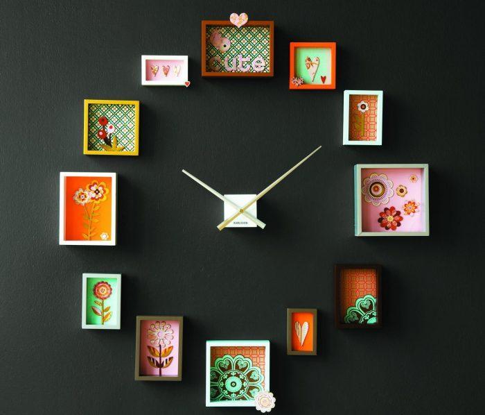 Яркие настенные часы станут украшением любого интерьера