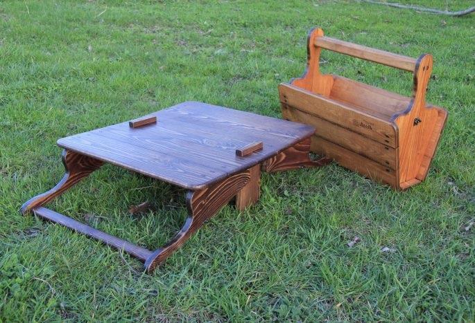 Раскладной походный стол, сделанный своими руками
