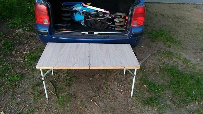 Самодельный складной столик в авто