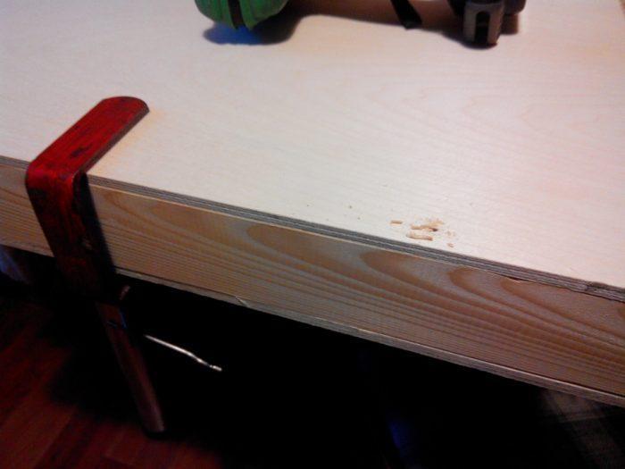 Сборка корпуса стола