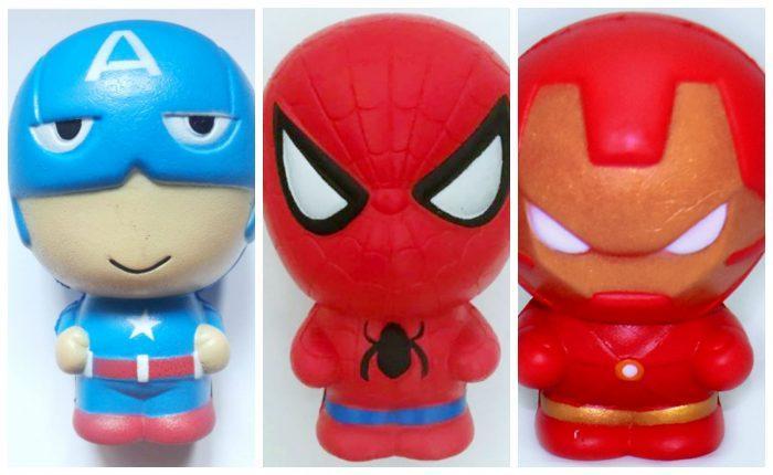 Супергеройские игрушки-сквиши