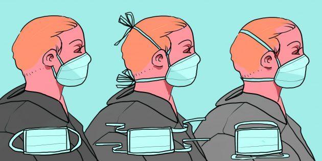 Как носить медицинскую маску