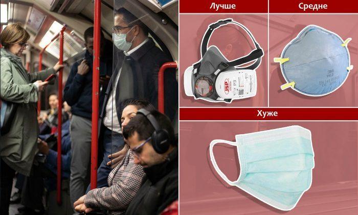 Медицинские маски защищают рот и нос человека