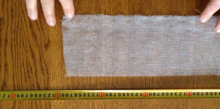 Отрезок бинта длиной 60 см