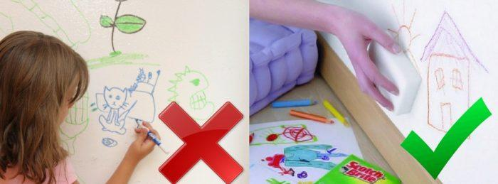 Старайтесь выбирать обои и краску, которые можно легко отмыть