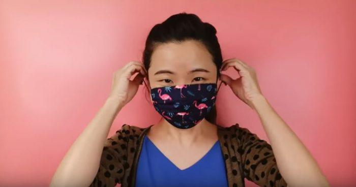 Тканевая медицинская маска готова