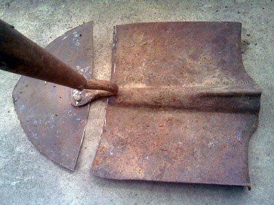 Делаем тяпку из лопаты