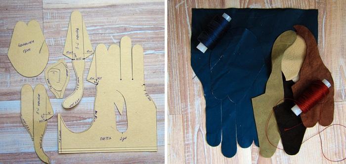 Детали для левой перчатки