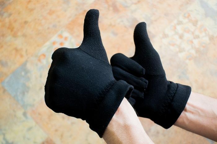 Готовые перчатки из флиса