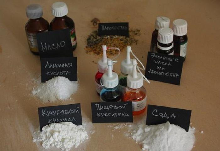 Ингредиенты для изготовления бомбочек