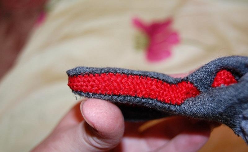 Изнанка перчатки