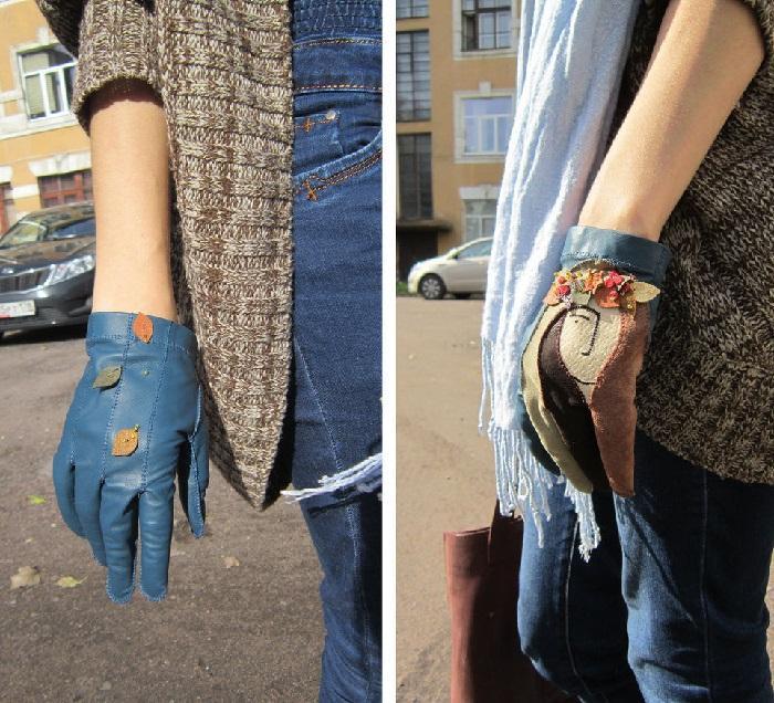 Как выглядят готовые кожаные перчатки