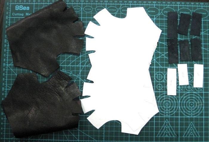 Комплект заготовок для перчаток