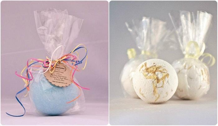 Красиво упакованные бомбочки для ванны