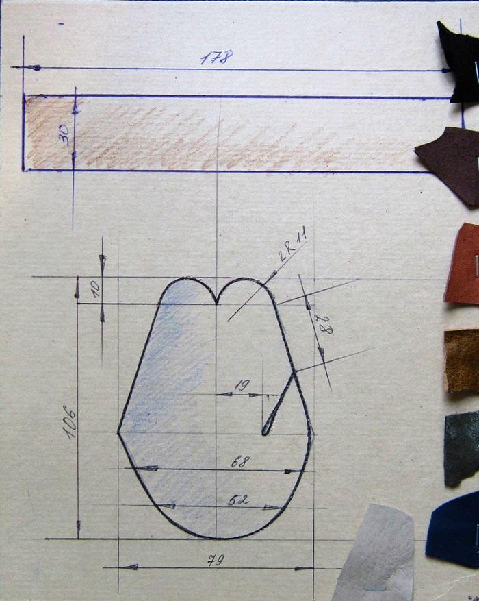 Лекало напалка (детали для большого пальца)