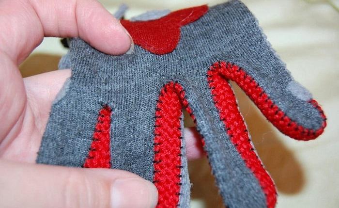 Лицевая сторона перчатки