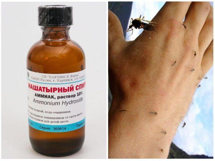 Нашатырный спирт от комаров и мошек