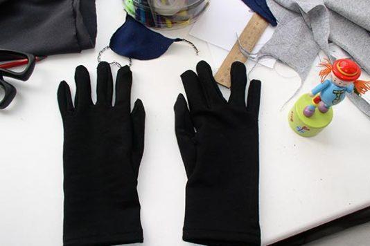 Трикотажные перчатки своими руками