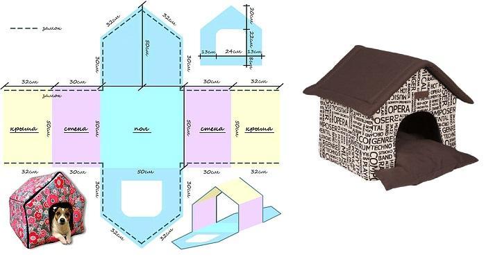 Лежанка-домик для собаки