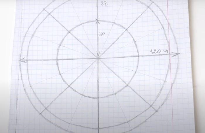 Пример выкройки для лежанки с кулиской
