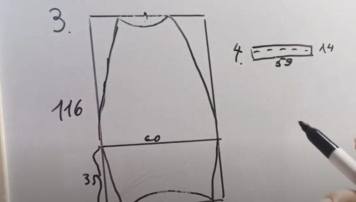 Прямоугольник со сгибом посередине