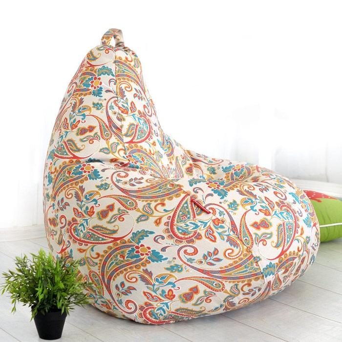 Кресло-мешок из шенилла