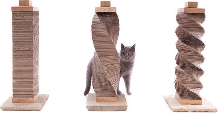 Самый простой способ изготовления такого устройства – насадить куски картона на шпиль