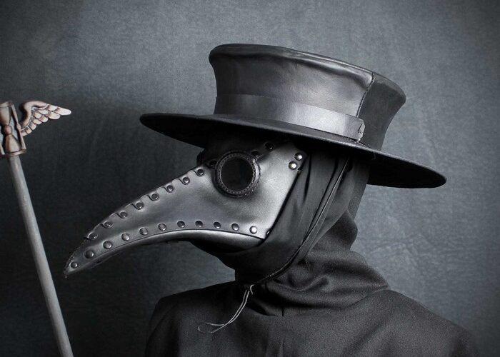 Как сделать маску чумного доктора