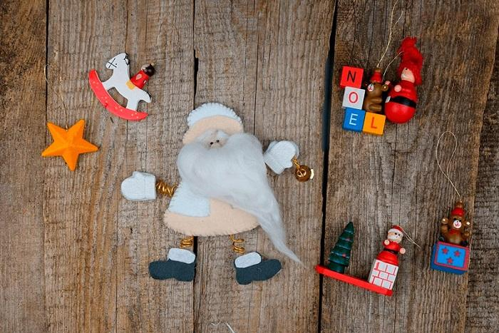 Дед Мороз из фетра готов