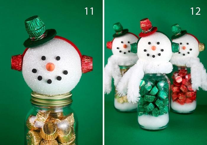 Готовые подарочные снеговики