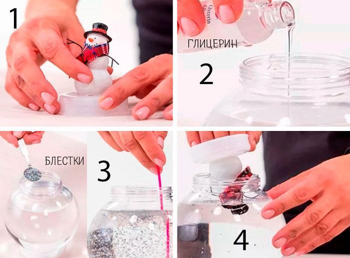 Инструкция по изготовлению снежного шара