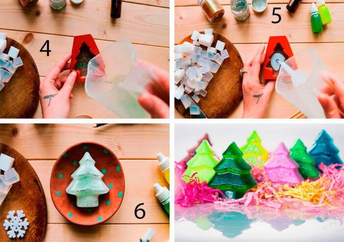 Изготовление новогоднего мыла