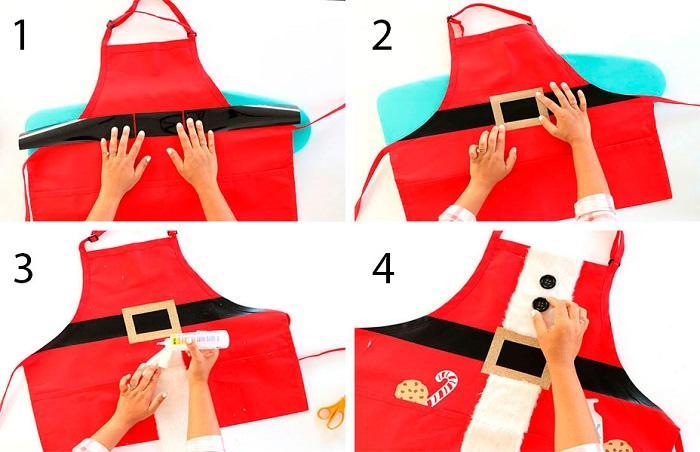 Как сделать фартук Санта Клауса