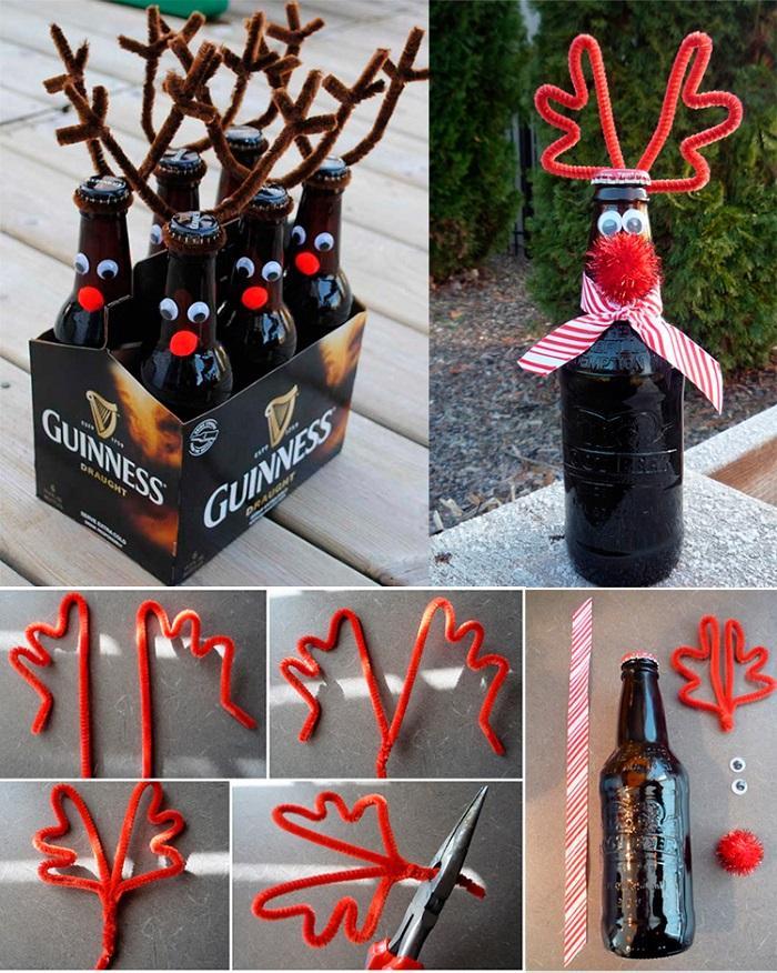 Рога оленя на бутылке