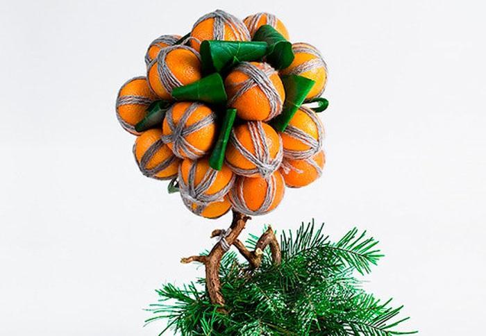 Топиарий из мандаринов