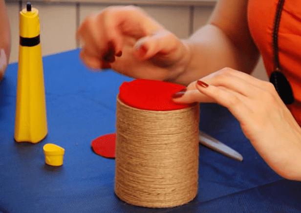 Круг из плотной ткани