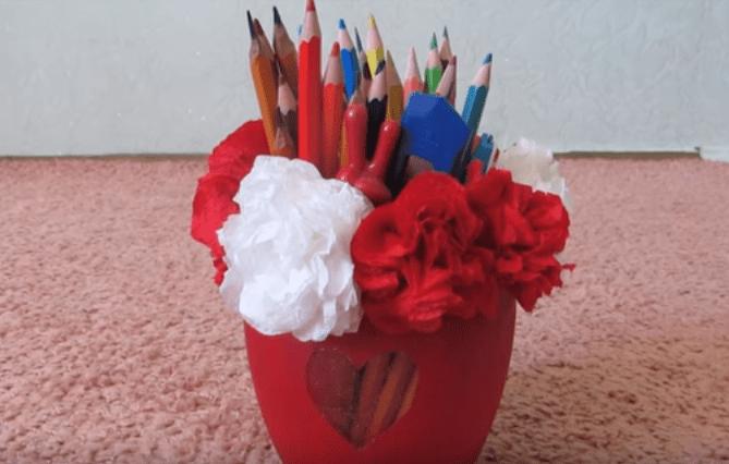 Самодельная карандашница
